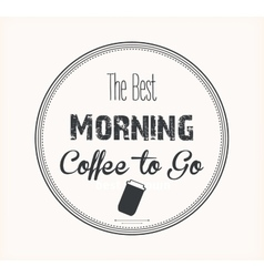 best morning coffee vector image