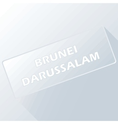 Brunei darussalam unique button vector
