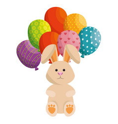bunny animal balloons vector image