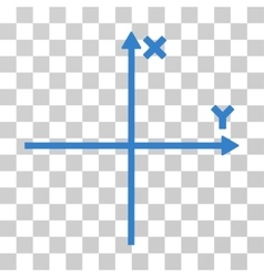 Cartesian axes icon vector