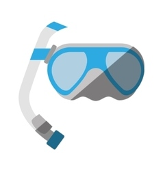 Cartoon scuba dive mask tube vector