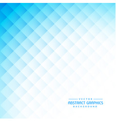 Clean abstract blue background with diamond shapes vector