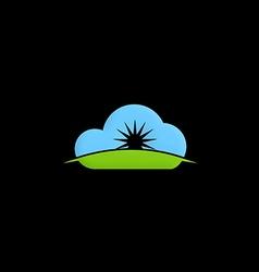 Cloud shine abstract logo vector