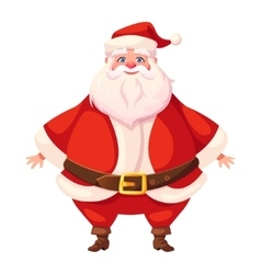 Colorful flat santa standing vector