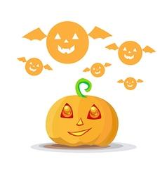 Cute pumpkin halloween vector