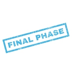 Final phase rubber stamp vector
