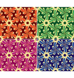 Floral seamless set vector image vector image