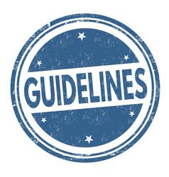 guidelines grunge rubber stamp vector image