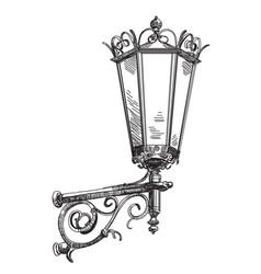 Hand drawing street lantern vector