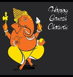 Happy ganesh chaturthi festival greeting card vector