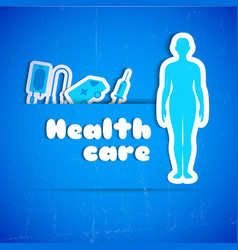 health care background vector image