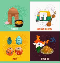 India 2x2 design concept vector