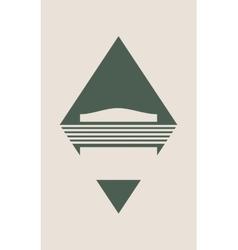 Industrial emblem vector