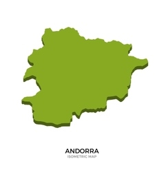 Isometric map of andorra detailed vector
