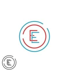 Letter e logo monogram combination ee circle vector