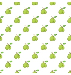 Olives branch with leaves pattern cartoon style vector