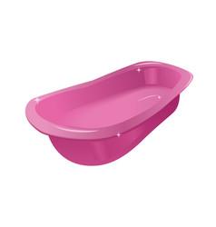 pink tub or bath vector image vector image