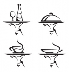restaurants icon set vector image vector image