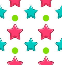 Seamless pattern with colorful star - 2 vector image
