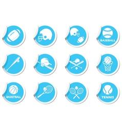 Set 12 sport blue label vector image