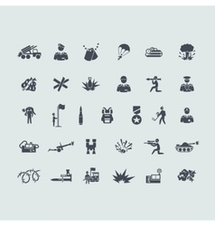 Set of war icons vector image