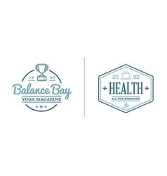 Set of Yoga Zen Sport Elements and Fitness Healthy vector image