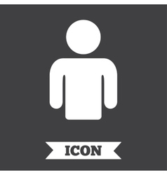 User sign icon Person symbol vector image vector image