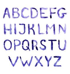Watercolor handwritten alphabet eps10 vector