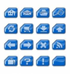web icons b blue vector image
