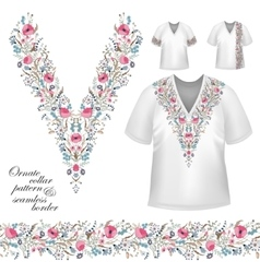 Collar vintage design vector