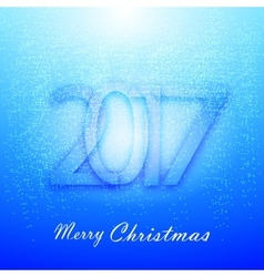Gentle blue christmas background with snow vector