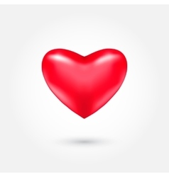 Red heart isolated on light vector
