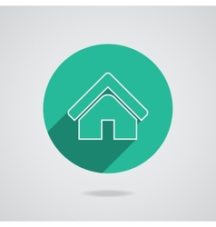 House abstract real estate countryside logo design vector