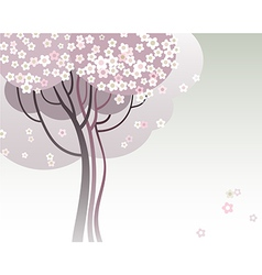 Trees in bloom vector