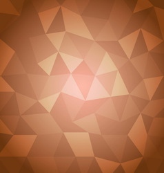 Abstract triangle with orange background vector image
