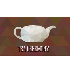 Teapot in polygonal design abstract triangle style vector