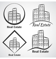 Real estate company logotype icon vector
