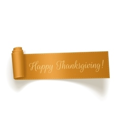 Thanksgiving yellow ribbon on white background vector