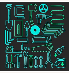 Architecture and construction tool icons set vector