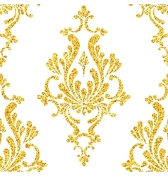 Abstract gold dust glitter damask seamless vector
