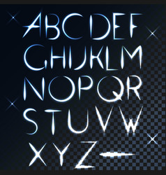 Abc light font letter design vector