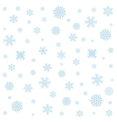 Background with blue snowflakes vector