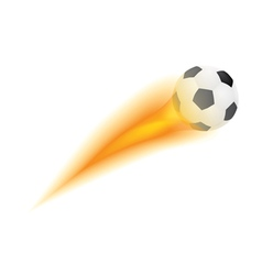 ball with flame vector image vector image
