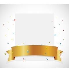Birthday Celebration banner with gold ribbon vector image