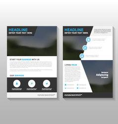 Black elegance leaflet brochure flyer template vector