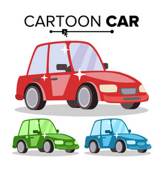 cartoon car reg green blue flat style vector image vector image