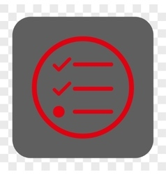 Checklist rounded square button vector