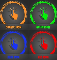 Click here hand icon sign fashionable modern style vector