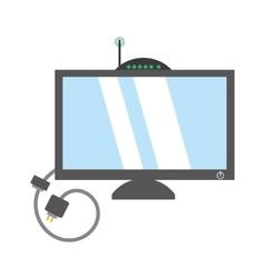 Computer moden antena signal cable vector