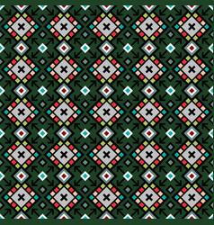 decorative geometric pattern in green vector image